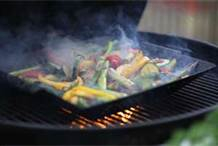 Grilled veggies on bbq
