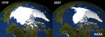 Ice cap melting pics